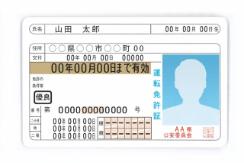 ご利用前の注意事項免許証